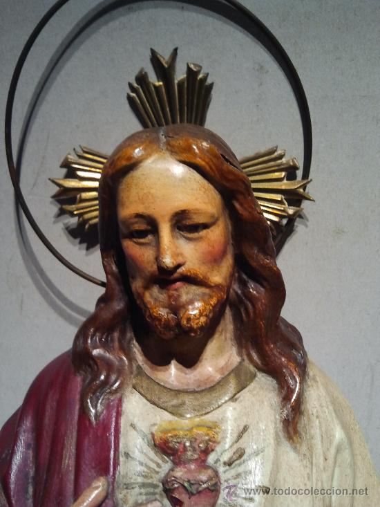 Arte: Talla Sagrado Corazón de Olot. - Foto 2 - 33255318