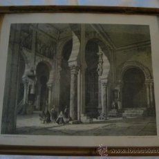 Arte: TOLEDO - LITOGRAFIA ANTIGUA DEL INTERIOR DE LA PARROQUIA DE SAN ROMAN EN TOLEDO, ENMARCADA.. Lote 33441093
