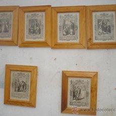 Arte: 6 PEQUEÑOS GRABADOS RELIGIOSOS. Lote 33438327