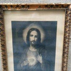 Arte: ANTIGUO GRABADO SAGRADO CORAZÓN DE JESUS. Lote 33454094
