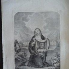 Arte: 'SANTA VERONICA' LITOGRAFIA PAPEL 46,5X31CM. IMAGEN 19X22CM. I.TURGIS PARIS. SIGLO XIX.. Lote 33468864