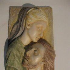 Arte: CUADRO EN RELIEVE VIRGEN CON JESÚS, 50X25X14 CM. MARMOLINA. Lote 33472369