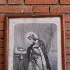 Arte: LITOGRAFIA ST.LOUIS REY DE FRANCIA SIGLO XIX. Lote 33683387
