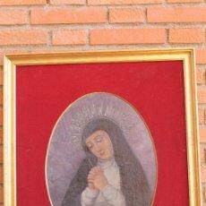 Arte: OLEO SOBRE TABLA VIRGEN DE LA PALOMA MANUEL MILLLAN. Lote 33825503
