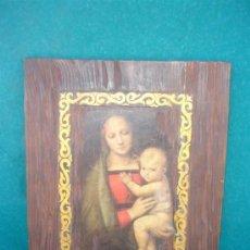 Arte: RETABLO CON UNA LAMINA RELIGIOSA Y DORADO. Lote 33765082