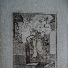 Arte: CATALUÑA. VICH. GRABADO 13X9,5CM. SIGLO XVIII 'BEATO SAN MIGUEL DE LOS SANTOS' VALLADOLID. Lote 33802053