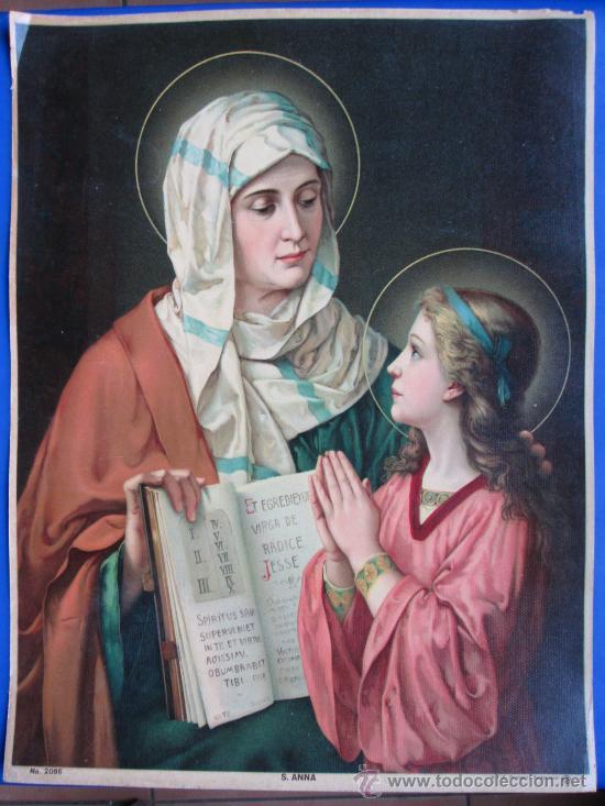 S. ANNA KFZ PRINTED IN SWITZERLAND, SANTA ANA N° 2086 43X33 1 (Arte - Arte Religioso - Litografías)