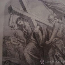 Arte: MAGNIFICO GRABADO CRISTO , LA CUESTA DEL CALVARIO, DE CONSERVACION 15 X 24 CM. Lote 34094228