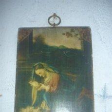 Arte: RETABLO CON LAMINA RELIGIOSA. Lote 34227354