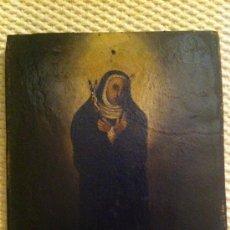Arte: SANTA RITA - MONJA - VIRGEN - OLEO SOBRE TABLILLA SIGLO XVII. Lote 34240819
