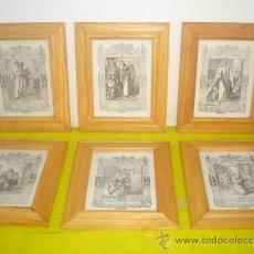 Arte: 6 GRABADOS RELIGIOSOS. Lote 34271669