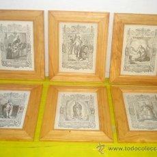 Arte: 6 PEQUEÑOS GRABADOS RELIGIOSOS. Lote 34271683