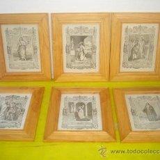 Arte: 6 PEQUEÑOS GRABADOS RELIGIOSOS. Lote 34271692