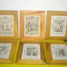 Arte: 6 PEQUEÑOS GRABADOS RELIGIOSOS. Lote 34271708