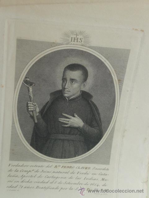 ANTIGUO GRABADO PEDRO CLAVER (Arte - Arte Religioso - Grabados)