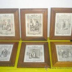 Arte: 6 GRABADOS RELIGIOSOS. Lote 34310649