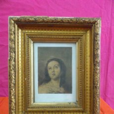 Arte: ANTIGUO CUADRO DIBUJO DE LA VIRGEN INMACULADA CONCEPCION DE MARÌA.. Lote 34505998