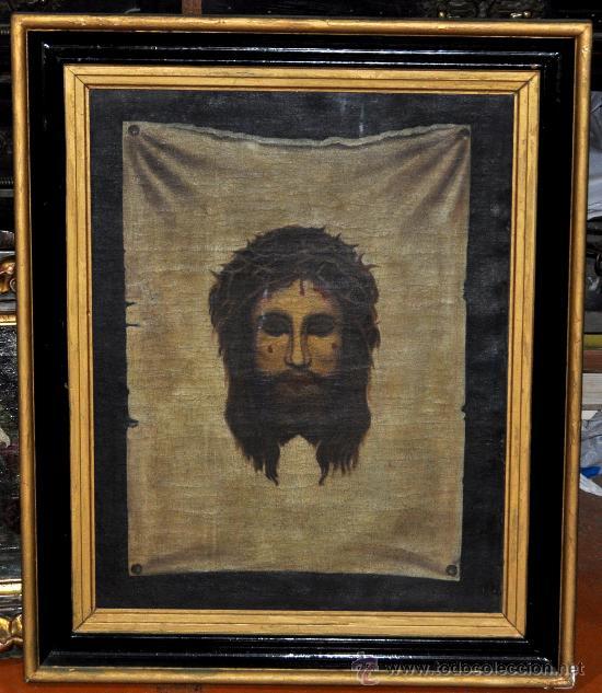 ANONIMO DEL SIGLO XIX. OLEO SOBRE TELA. SANTA FAZ (Arte - Arte Religioso - Pintura Religiosa - Oleo)
