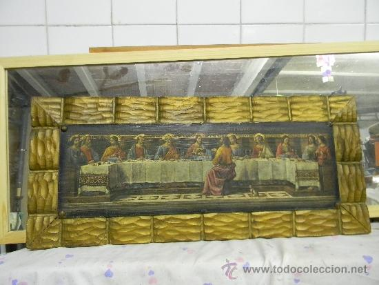 SANTA CENA SOBRE MADERA (Arte - Arte Religioso - Pintura Religiosa - Otros)