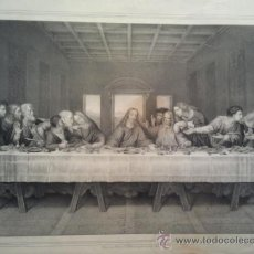 Arte: LA ÚLTIMA CENA. GRABADO CON ÓXIDOS. THE LORDS SUPPER. PARIS.. Lote 34638686