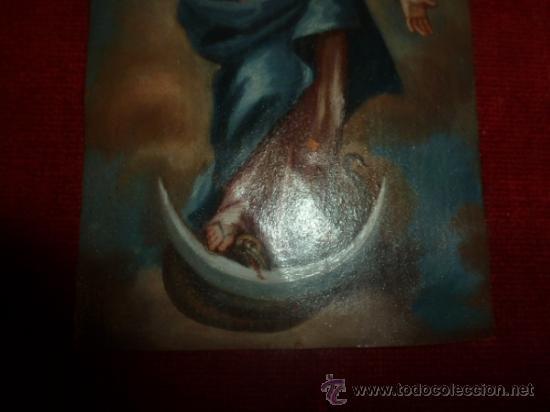 Arte: oleo sobre cobre virgen inmaculada - Foto 3 - 34645661