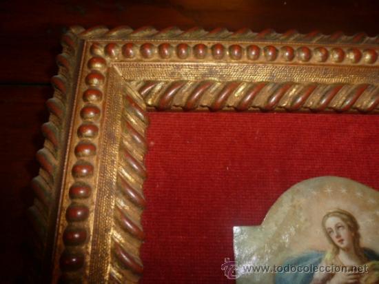 Arte: oleo sobre cobre virgen inmaculada - Foto 6 - 34645661