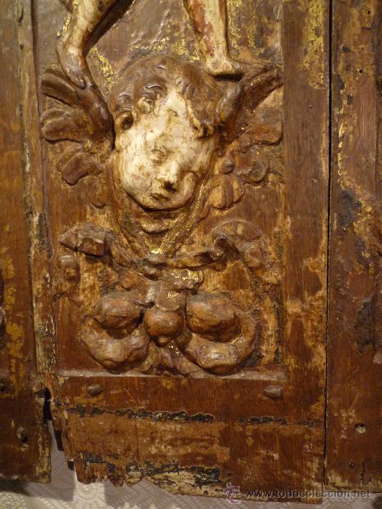 Arte: Tres tablas platerescas S. XVI, epoca Carlos V, talladas, piezas increibles, solo para entendios. - Foto 5 - 34650017