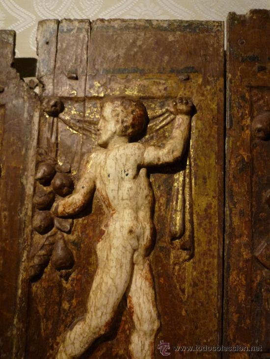 Arte: Tres tablas platerescas S. XVI, epoca Carlos V, talladas, piezas increibles, solo para entendios. - Foto 3 - 34650017