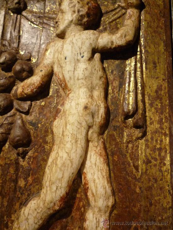 Arte: Tres tablas platerescas S. XVI, epoca Carlos V, talladas, piezas increibles, solo para entendios. - Foto 2 - 34650017