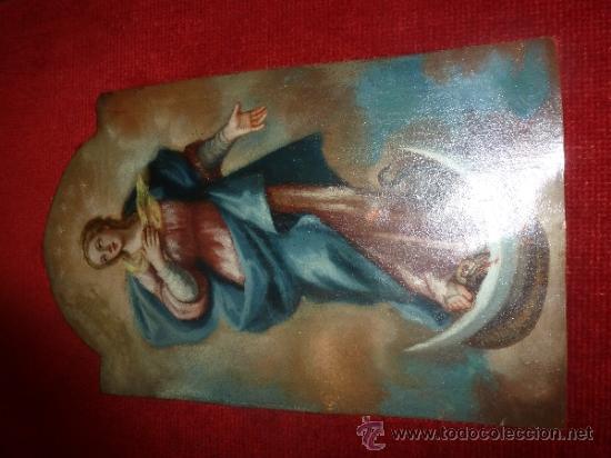 Arte: oleo sobre cobre virgen inmaculada - Foto 18 - 34645661