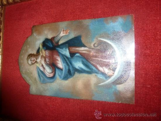 Arte: oleo sobre cobre virgen inmaculada - Foto 15 - 34645661