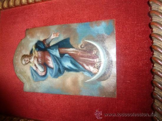 Arte: oleo sobre cobre virgen inmaculada - Foto 10 - 34645661