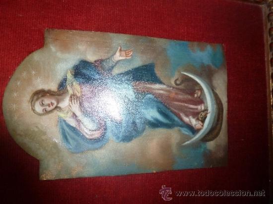 Arte: oleo sobre cobre virgen inmaculada - Foto 17 - 34645661