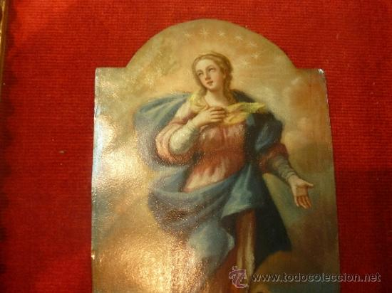 Arte: oleo sobre cobre virgen inmaculada - Foto 13 - 34645661