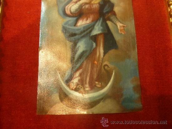 Arte: oleo sobre cobre virgen inmaculada - Foto 11 - 34645661