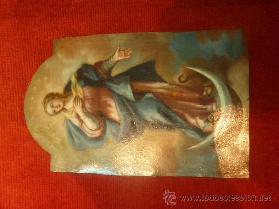 Arte: oleo sobre cobre virgen inmaculada - Foto 14 - 34645661