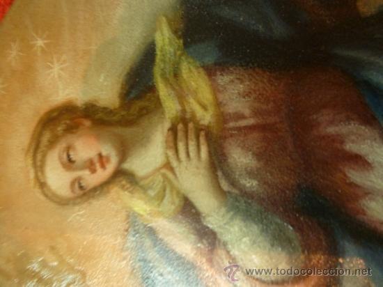 Arte: oleo sobre cobre virgen inmaculada - Foto 25 - 34645661