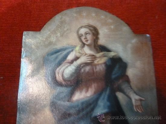 Arte: oleo sobre cobre virgen inmaculada - Foto 12 - 34645661