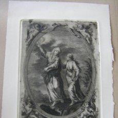 Arte: GRABADO ACTUAL DE JULIÁN MÁS, PINTOR DE LA REAL FÁBRICA DE ALCORA, DIBUJO DE LUIS PLANES SIGLO XVIII. Lote 34747630