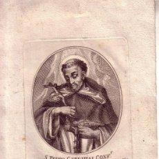 Arte: GRABADO DEL SIGLO XIX - SAN PEDRO GEREMIAS CONF. - DE LA ORDEN DE PREDIC - 14.5X21 CM. Lote 34931663