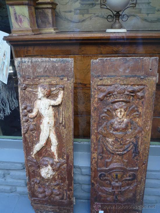 Arte: Tres tablas platerescas S. XVI, epoca Carlos V, talladas, piezas increibles, solo para entendios. - Foto 19 - 34650017