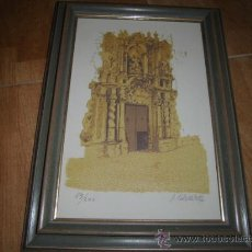 Arte: GRABADO O SIMILAR 59 / 200 IGLESIA SANTA MARIA ALICANTE FIRMADO J.ALVARO. Lote 35056704