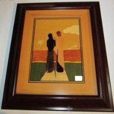 Arte - Cuadro Taraceado Jesús con la Virgen 63 x 53 cm - 35198134