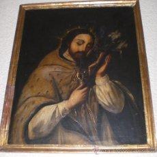 Arte: OLEO SOBRE LIENZO, PINTURA RELIGIOSA, S.XIX, SAN JUAN NEPONUCENO. Lote 35622348