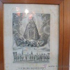Arte: NUESTRA SEÑORA DE LOS DESAMPARADOS VALENCIA PAPEL. Lote 35622918