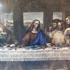 Arte: CUADRO GRABADO SANTA CENA DE DA VINCI MIDE 83X 53 CM.. Lote 35642176