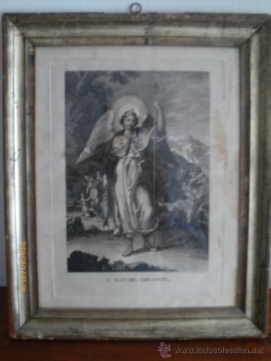 SAN RAFAEL ARCANGEL - JOSE MARIA MARTIN - SEVILLA 1833 - GRABADO. OBRA INEDITA (Arte - Arte Religioso - Grabados)