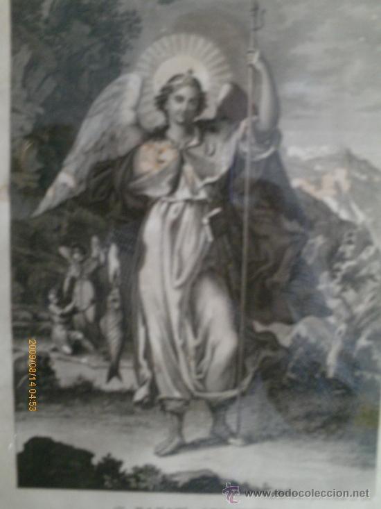 Arte: SAN RAFAEL ARCANGEL - JOSE MARIA MARTIN - SEVILLA 1833 - GRABADO. OBRA INEDITA - Foto 2 - 35784317