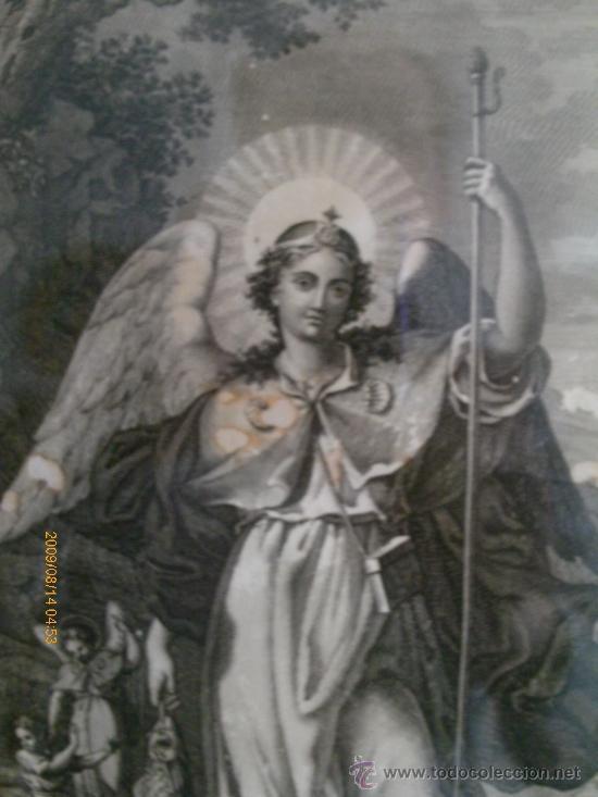 Arte: SAN RAFAEL ARCANGEL - JOSE MARIA MARTIN - SEVILLA 1833 - GRABADO. OBRA INEDITA - Foto 3 - 35784317
