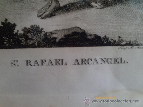 Arte: SAN RAFAEL ARCANGEL - JOSE MARIA MARTIN - SEVILLA 1833 - GRABADO. OBRA INEDITA - Foto 5 - 35784317